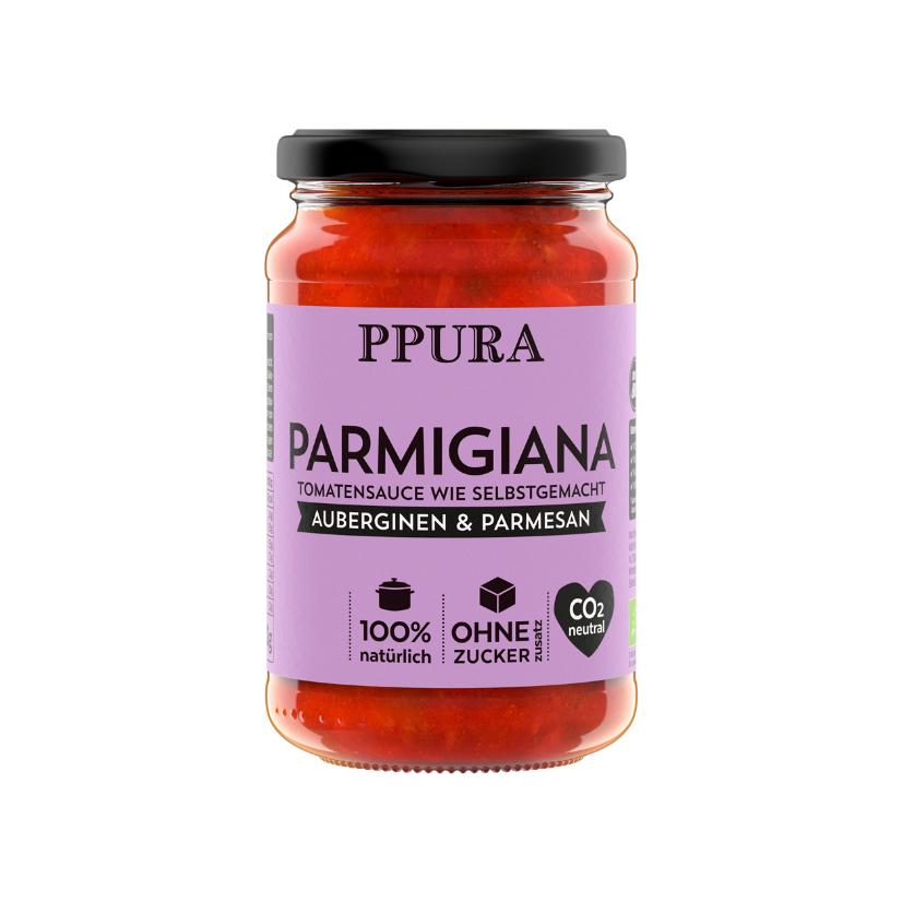 Sugo Auberginen, Tomaten und Parmesan 250 g (BIO)
