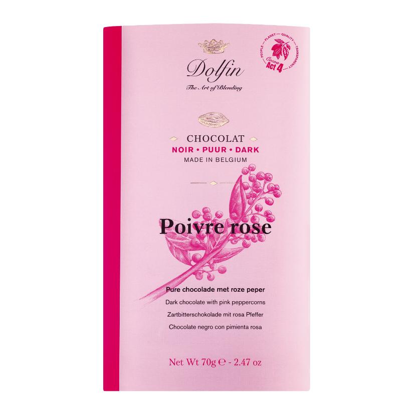 Zartbitterschokolade mit Rosa Pfeffer 70 g