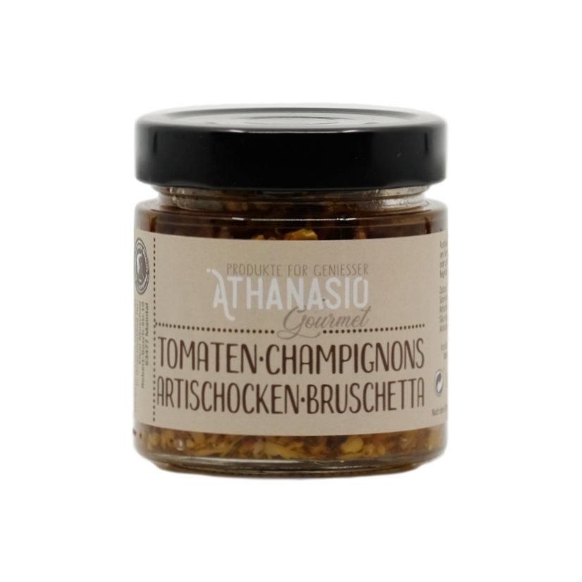 Tomaten Champignons Artischocken Bruschetta
