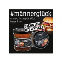 #männerglück Bacon Jam mit Whiskey 140 g